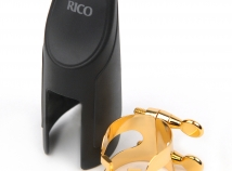 Gold Plated Rico H Ligature & Cap Set for Bb Tenor Sax Mouthpieces