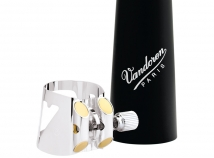 Vandoren Optimum Ligature for Bb Bass Clarinet in Silver Plate