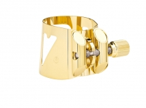 Vandoren Optimum Ligature for Eb Alto Sax in Gold Plate