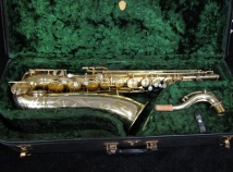 Vintage Original Gold Plate Martin Handcraft Committee City Skyline Tenor Sax, Serial #125001