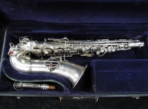 Vintage C.G. Conn Satin Silver Chu Berry Art Deco Alto, Serial #238448