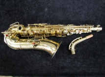 RARE Early HN White Model KING Alto Sax in Original Gold Plate - Serial # 76802