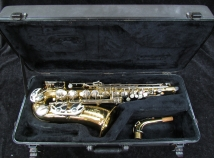 King Empire Alto Sax in Gold Lacquer Alto Sax, Serial #712159