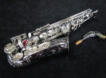 Very Nice! Black Nickel P. Mauriat 500 Black Pearl Alto Sax, Serial #0903114