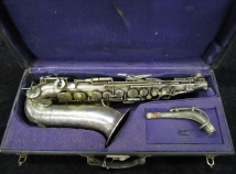 Vintage Original Silver Selmer Paris New Large Bore Alto Sax - Serial # 10926